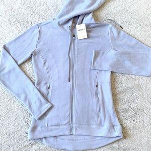 NWT Light Blue Fleece Zip Up Hoodie Size XS